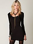 Long Sleeve Lace Bodycon Slip
