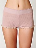 Pointelle Sweater Shorts