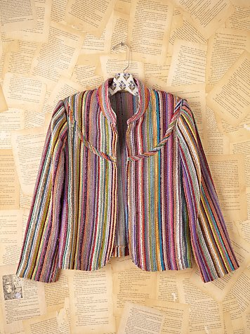 Free People Vintage Rainbow Jacket