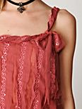 Tie Pleated Sequin Cami