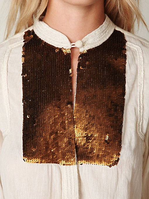 FP New Romantics Sequin Button Down