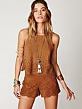 Suede Laser Cut Top