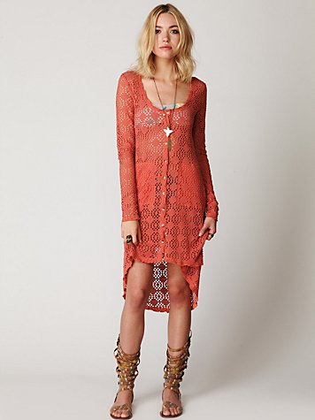 Crochet Love Long Sleeve Cardi