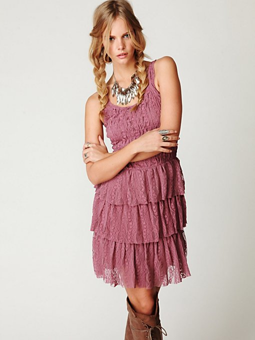 Ruffle Layer Fit-n-Flare Dress