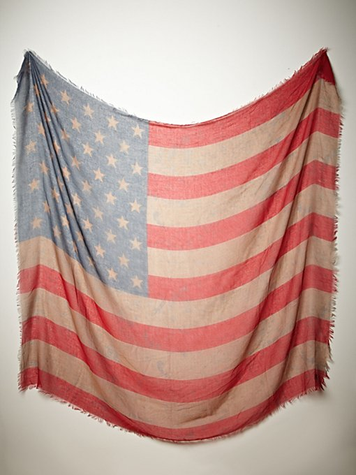 Tattered Flag Scarf in accessories-scarves-ponchos