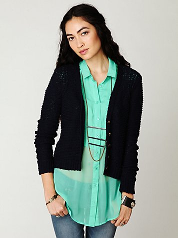 Free People Shrunken Cardigan