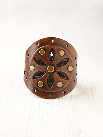 Poppy Cutout Leather Cuff