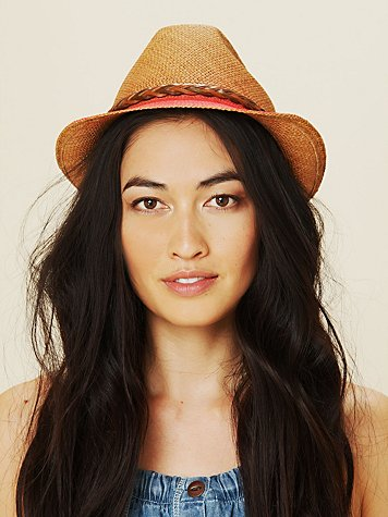 Hollywood Trading Company Dip Dye Straw Hat