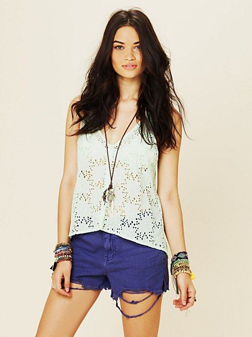 Colored Denim Cutoff Shorts in sale-sale-bottoms