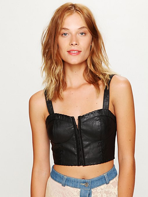 Vegan Leather Bustier