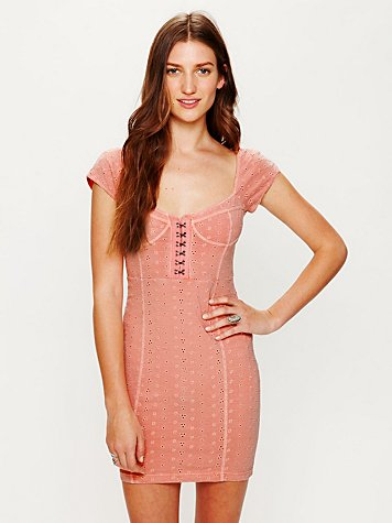 Stretch Eyelet Bodycon