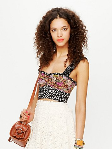 Intimately Free People Mixed Print Ruffle Crop Top