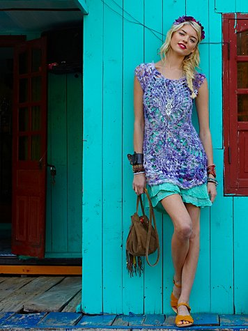 FP Beach Open Stitch Silk Tunic