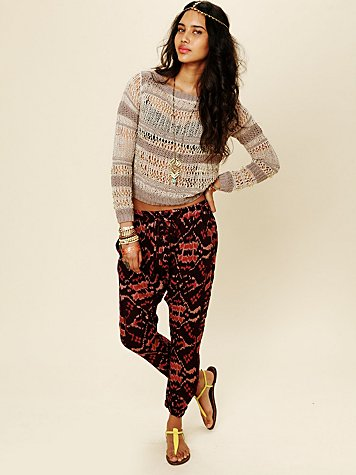 Free People FP ONE Ikat Print Harem Pant