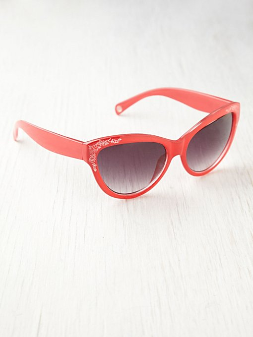 Floral Etched Sunglasses