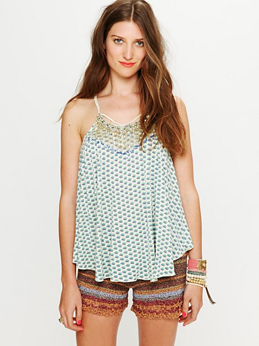 FP ONE Marigold Embroidered Tank