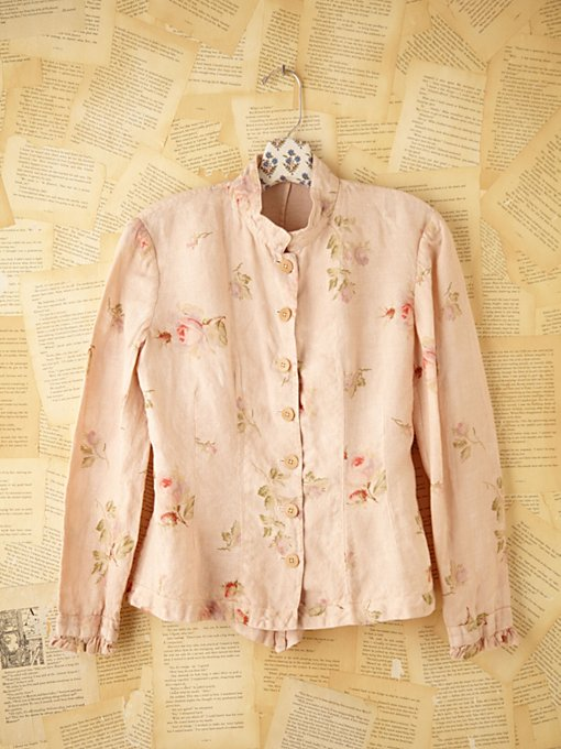 Free People Vintage Dusty Rose Top in Vintage-Clothing