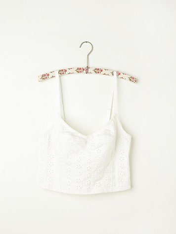 Stretch Eyelet Crop Bra