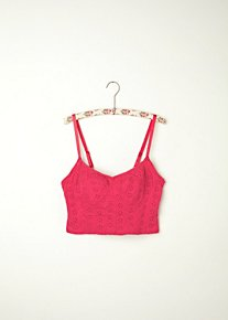 Stretch Eyelet Crop Bra in intimates-bras-cropped