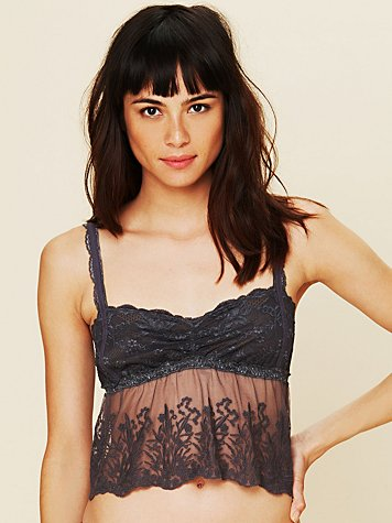 Intimately Free People Embroidered Mesh Bustier