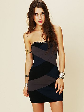 Color Block Bandage Dress