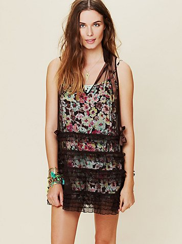 Free People Ruffle Me Up Mesh Tunic