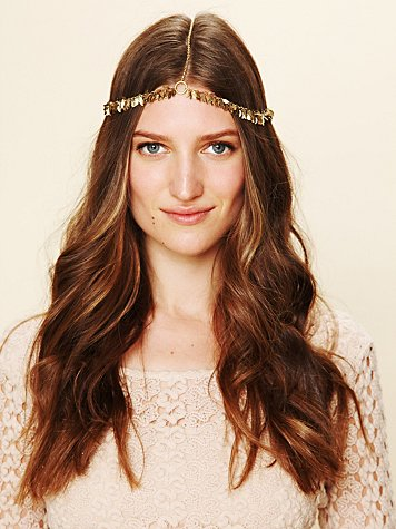 Sarah Lewis Designs Golden Leaf Headpiece