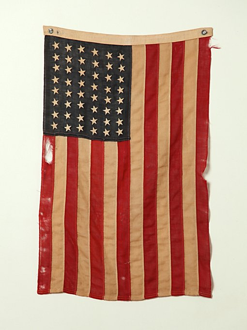 Vintage 48 Star Stitched American Flag in vintage-loves-objects