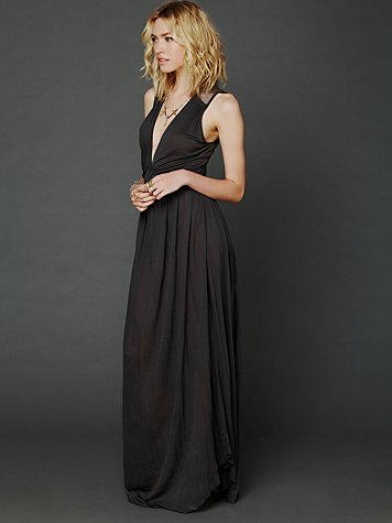 Nightcap Plunging V Maxi Dress