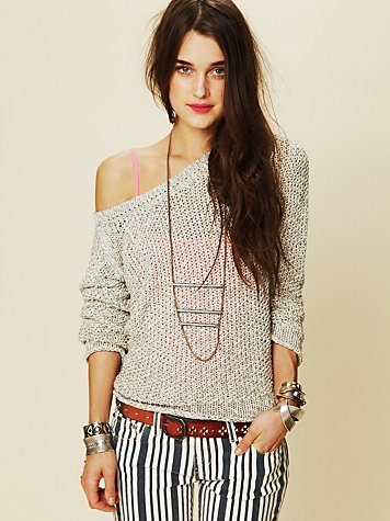 Free People Marl Yarn Pullover