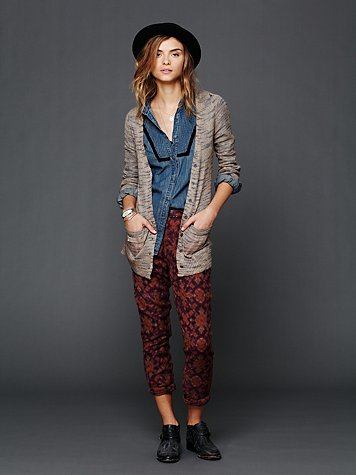 Maison Scotch Textured Print Harem Pants