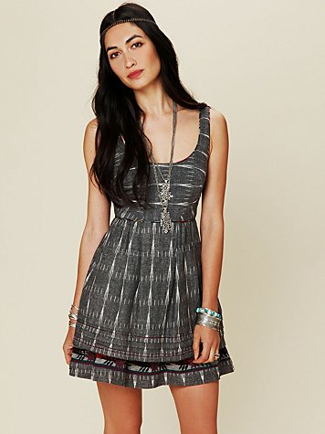 Free People FP New Romantics Weather Vane Ikat Dress