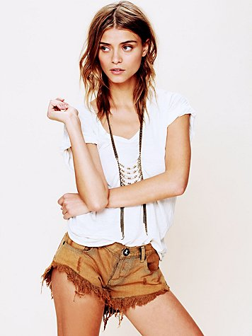 One Teaspoon Bonitas Suede Pocket Cutoff