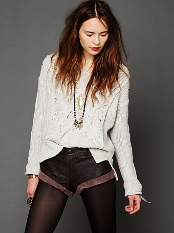 One Teaspoon Leather Bandits Short