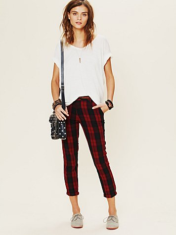 Rails Plaid Slouchy Trouser