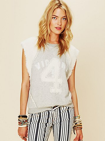 Free People Sleeveless Graphic Pullover