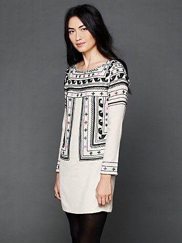 Beaded Wool Dress