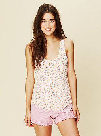 Intimately Printed Baby Rib Tank