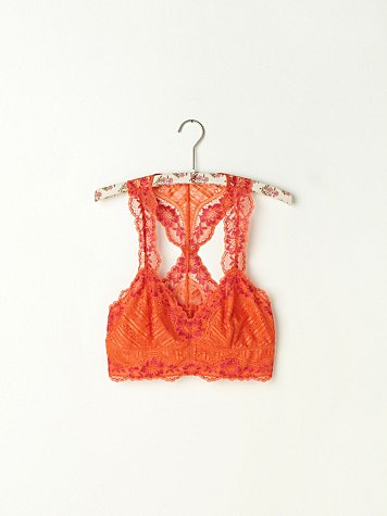 Galloon Lace Racerback Crop Bra