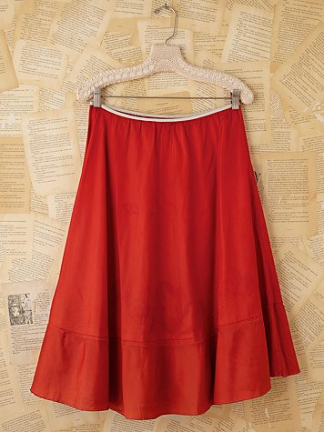 Vintage Red Slip Skirt
