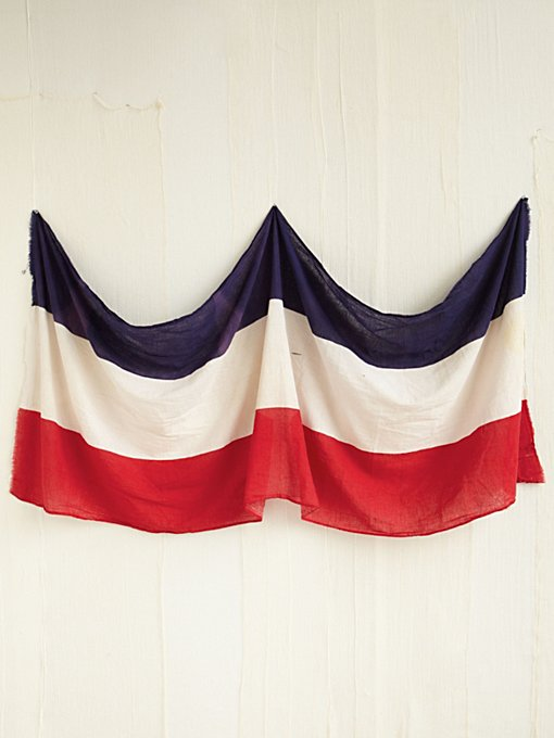 Vintage Red, White, and Blue Flag in vintage-loves-objects