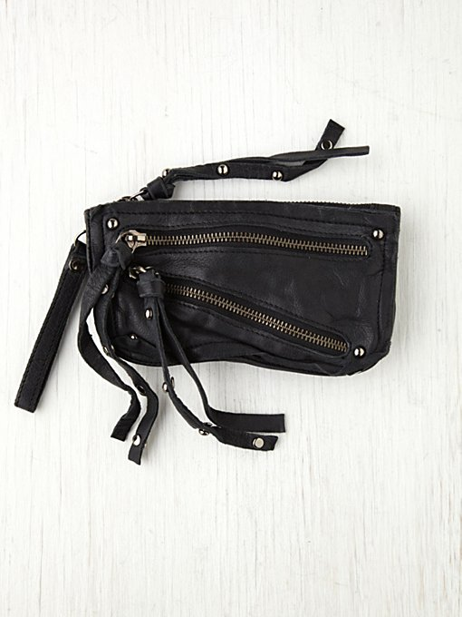 Free People Distressed Double Zip Wallet in Bags-Wallets