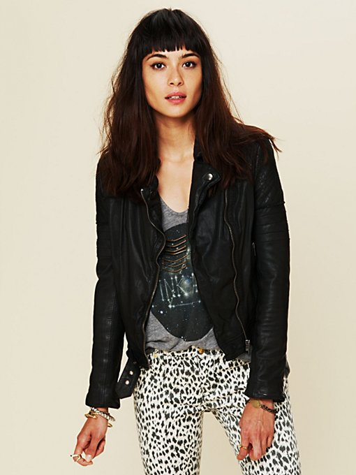 Muubaa Quilted Leather Jacket in Jackets