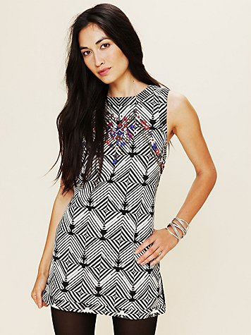 Free People FP New Romantics Geometric Embellished Tunic