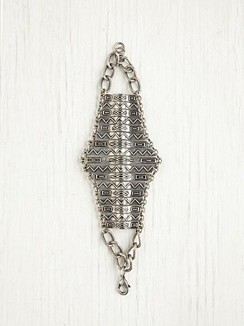 Free People Metal Armadillo Bracelet