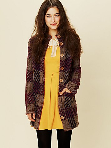 Free People Miss Polly Sweater Jacket