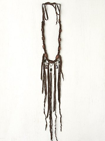 Bess Leather Strand Necklace