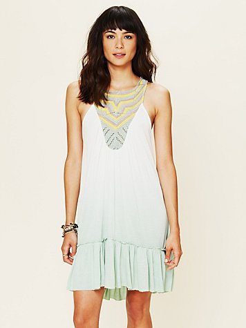 Free People Belle Fleur Knit Tunic Top