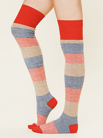 Free People Merino Stripe Tall Sock