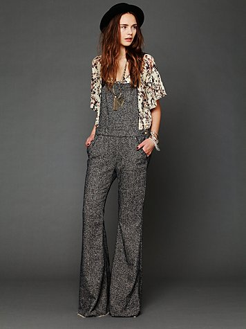 Free People Raw Hem Flared Overall
